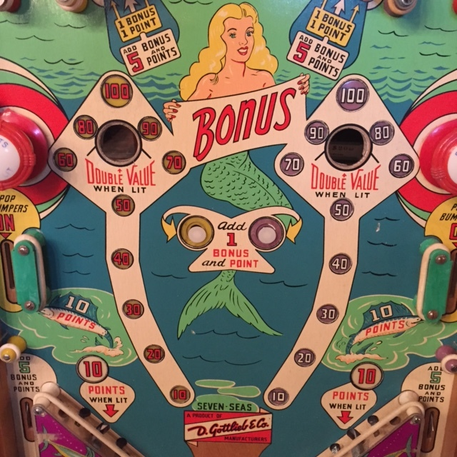 "1959 ""Seven Seas"" Playfield Detail"