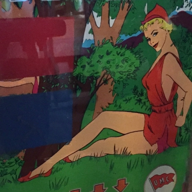 "1955 ""Pixies"" Backglass Detail"