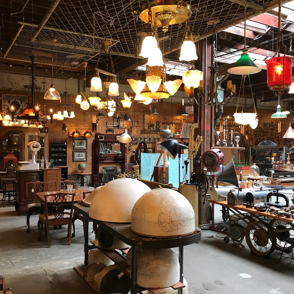 Old portland hardware architectural is a showroom with 10000 square feet of antique lighting vintage hardware stained glass windows and a thousand