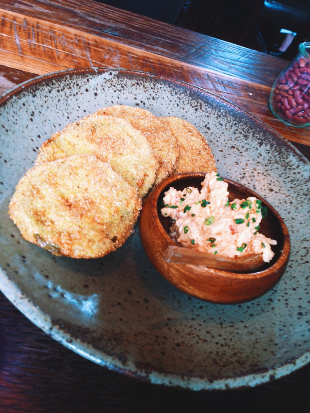 Husk Nashville: Fried Green Tomatoes & Pimento Cheese