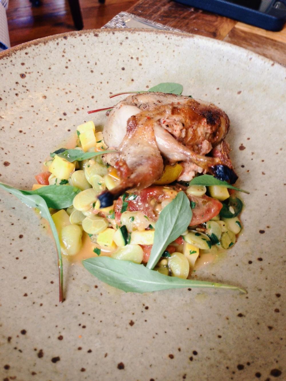 Husk Nashville: Boudin stuffed quail