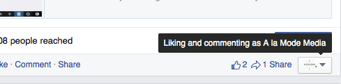 How to comment on page as yourself Facebook