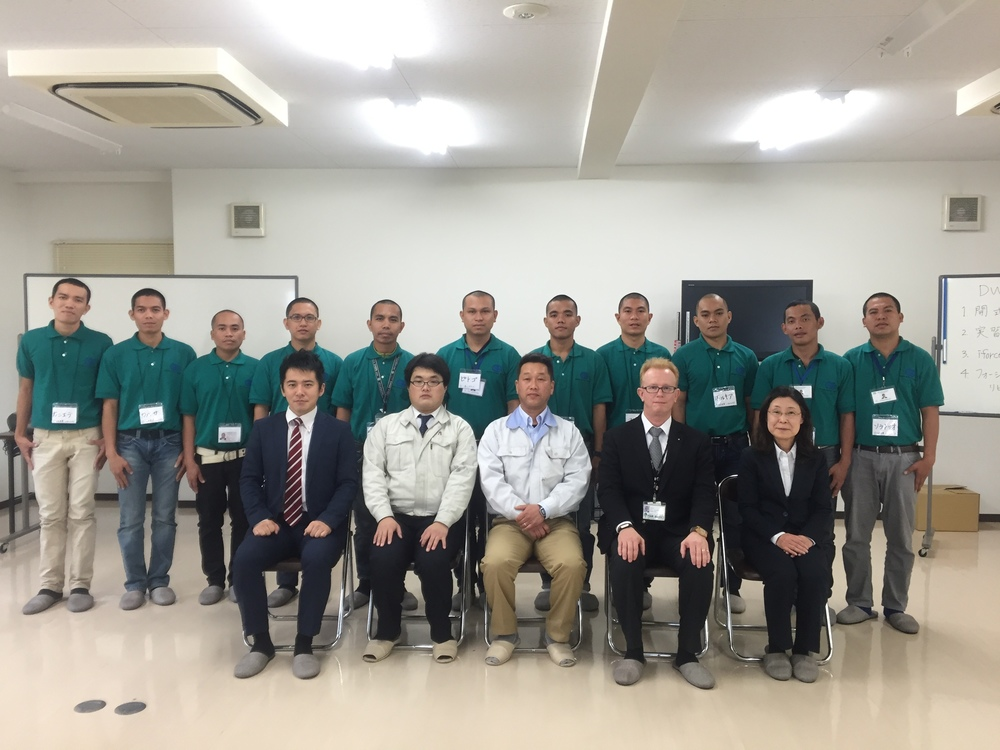 11 trainees from the Philippines begin their 3 year training