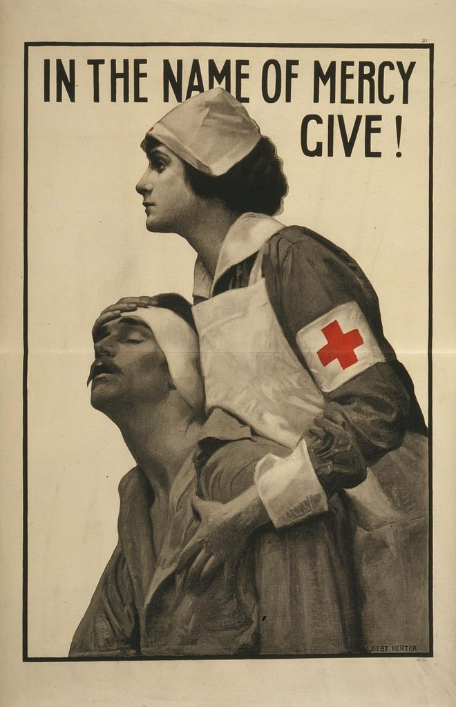 World War I Red Cross Poster (1917). Library of Congress via Wikimedia.