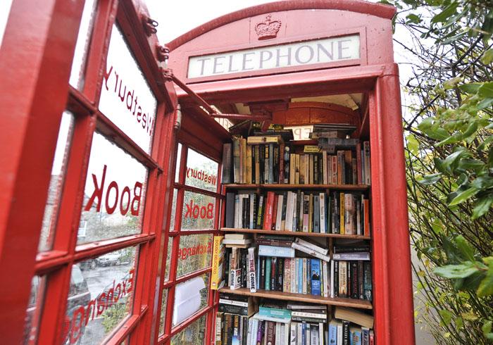 La cabina telefonica di Westbury, in Inghilterra