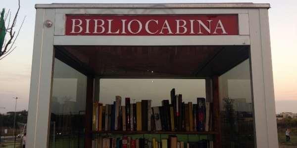 Roma: la bibliocabina di Torresina, voluta dal quartiere e inaugurata nell'ottobre 2014