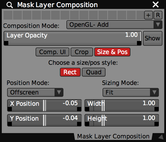 Note the Show/Hide button state in the layer composition controls for this hidden 'Mask Layer'