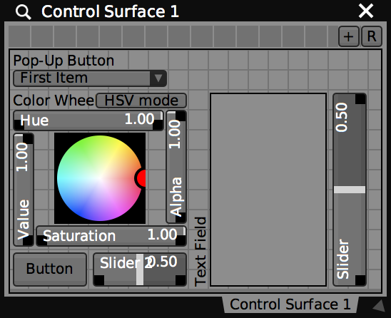 The same control surface in Edit UI mode and a custom layout.