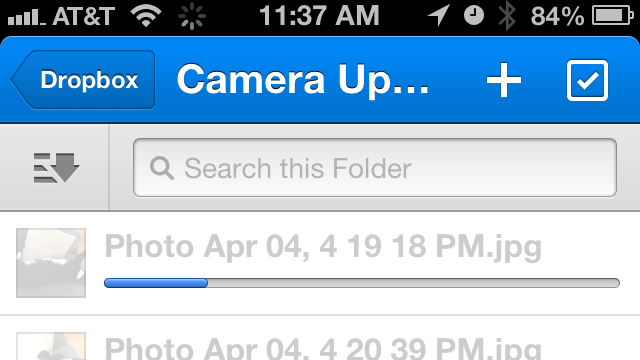 Upload images from Dropbox on iOS or other platform.