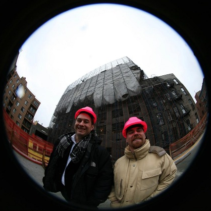 V Owen Bush (left) and Benton-C Bainbridge (right) Photo by Dave Pentecost, East Village Planetarium