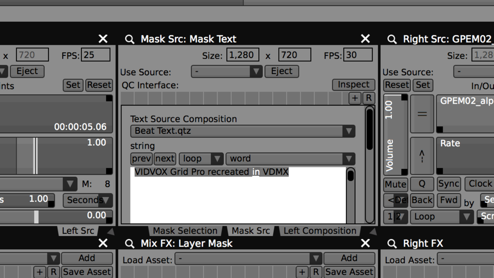 Create a layer with a text source to recreate the Grid Pro Fontsynth for overlays.
