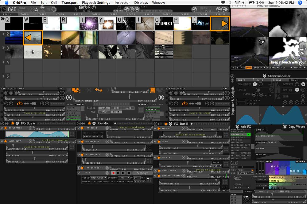 Screenshot for original Grid Pro video instrument.