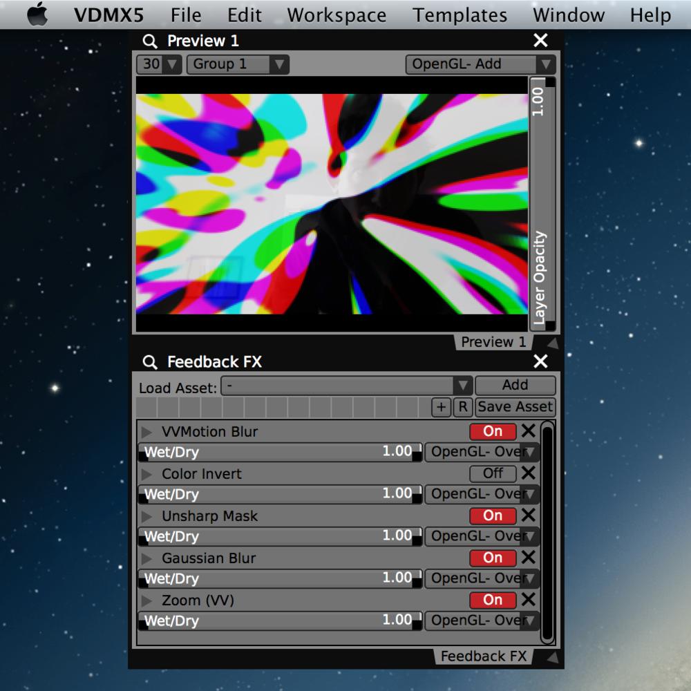 Creating video feedback loops.