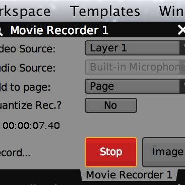 "Any video stream can be captured to disk with the ""Movie Recorder"" plugin."