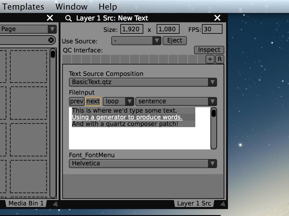 Os controles do player para a entrada de texto permitem avançar no arquivo letra por letra, por palavra, por sentença ou por quebra de linha.