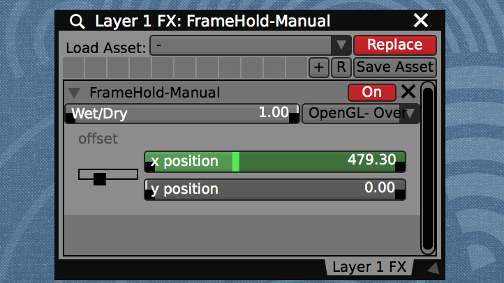 "Add the ""FrameHold-Manual"" geometry adjustment FX to create a seamless wrap around control of the camera point of view."