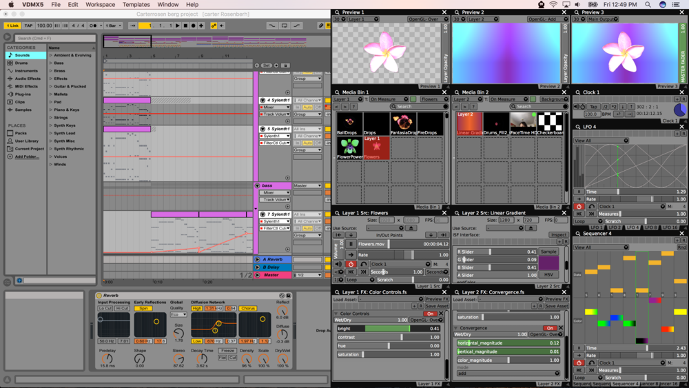 Using Ableton Link to keep VDMX in sync with Live