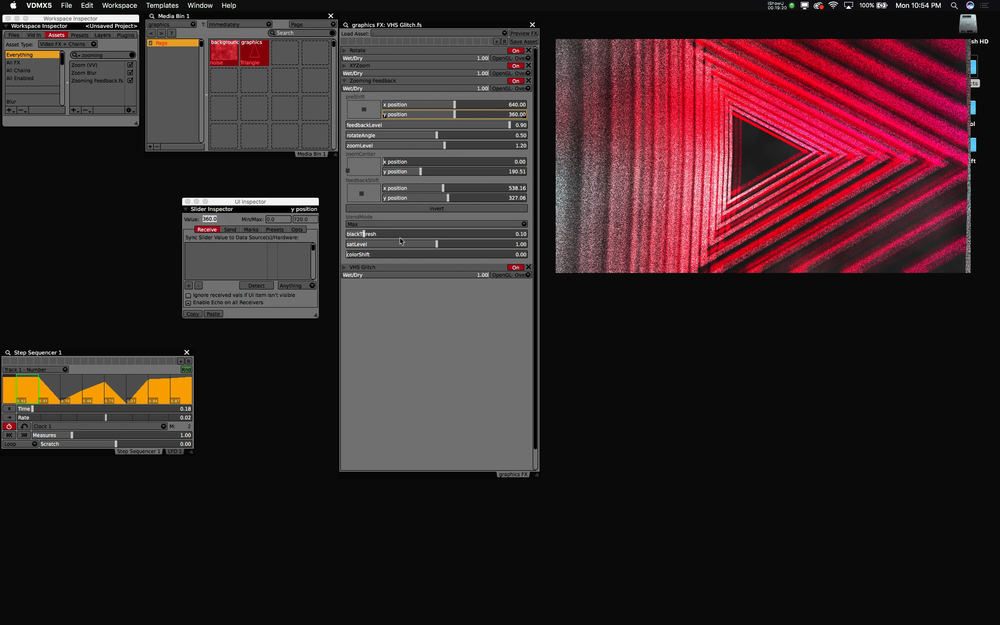 Animate the controls of visual FX with Step Sequencers.