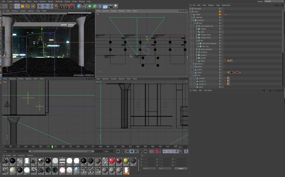 Prepare video loops in Maxon Cinema 4D...