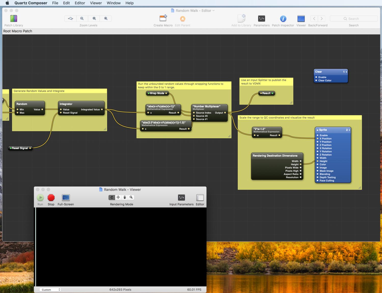 "Making a custom ""Random Walk"" data-source plugin for VDMX"