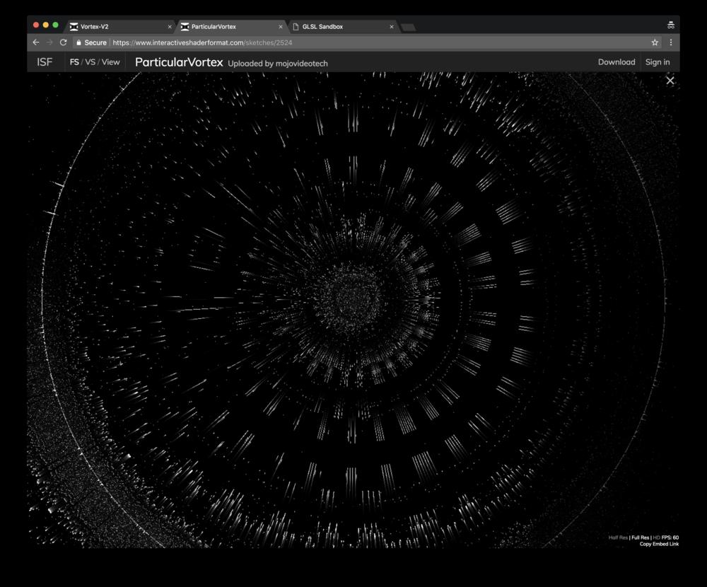 Mojovideotech version,  Vortex