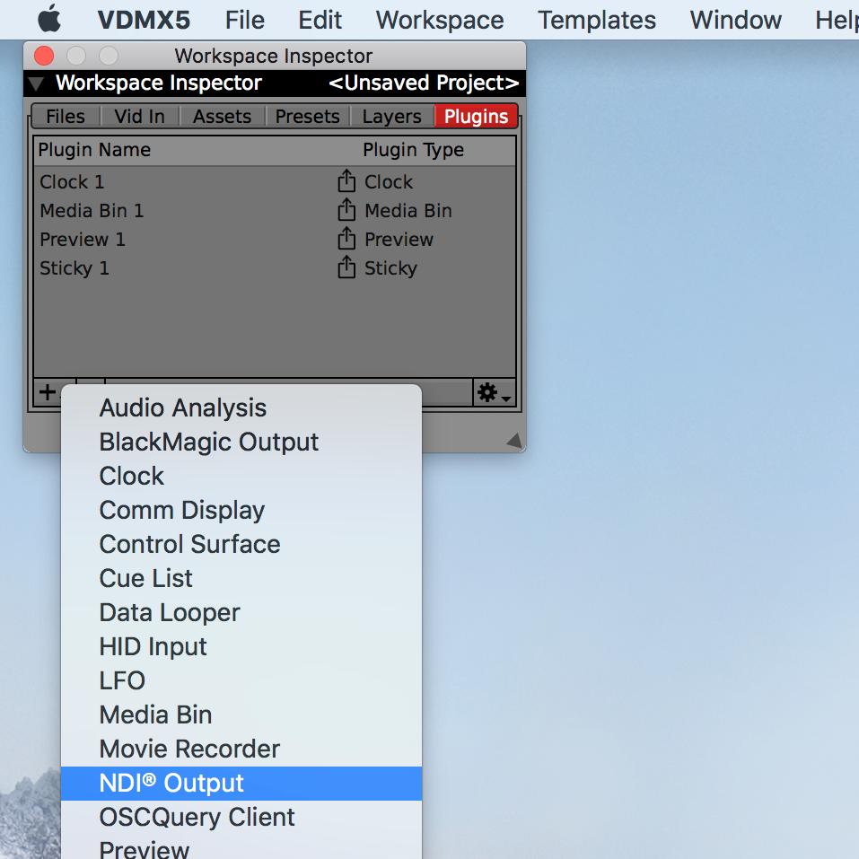 Sending NDI® Audio/Video streams from VDMX — VDMX - MAC VJ