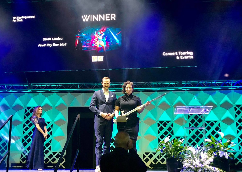Winner of MA Lighting Award for Fever Ray Tour 2018