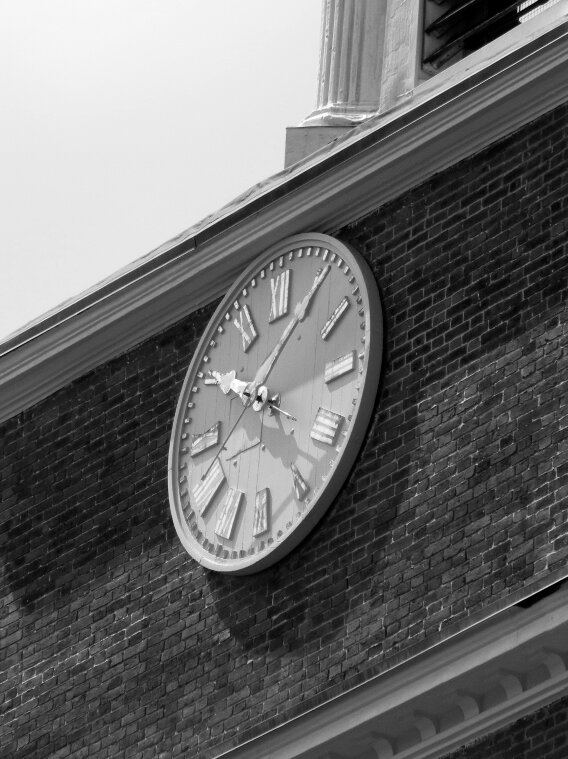 Beacon Hill, Charles street Meeting House, Clock