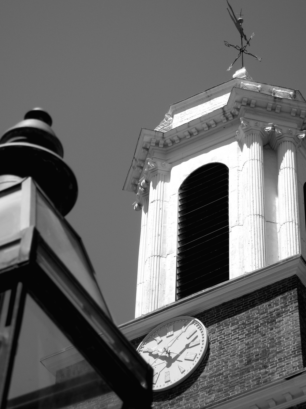 Beacon Hill, Charles street meeting house, Clock tower, street light