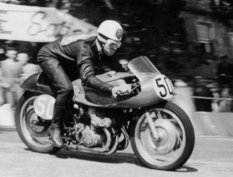 1955 Geoff Duke Isle of Man TT - photo by Aherl