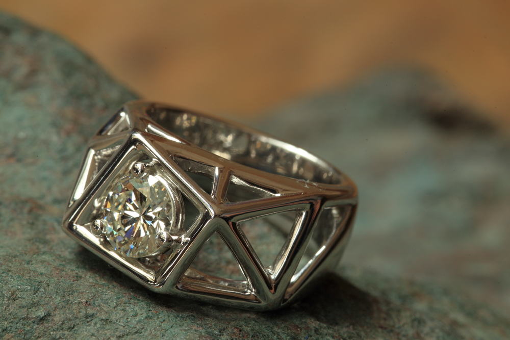side-view-unique-diamond-fractal-design-engagement-ring-craft-revival-jewelry-store-grand-rapids