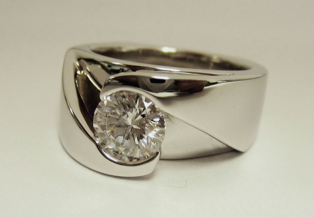 wedding ring engagement unique rings floral diamond bands platinum