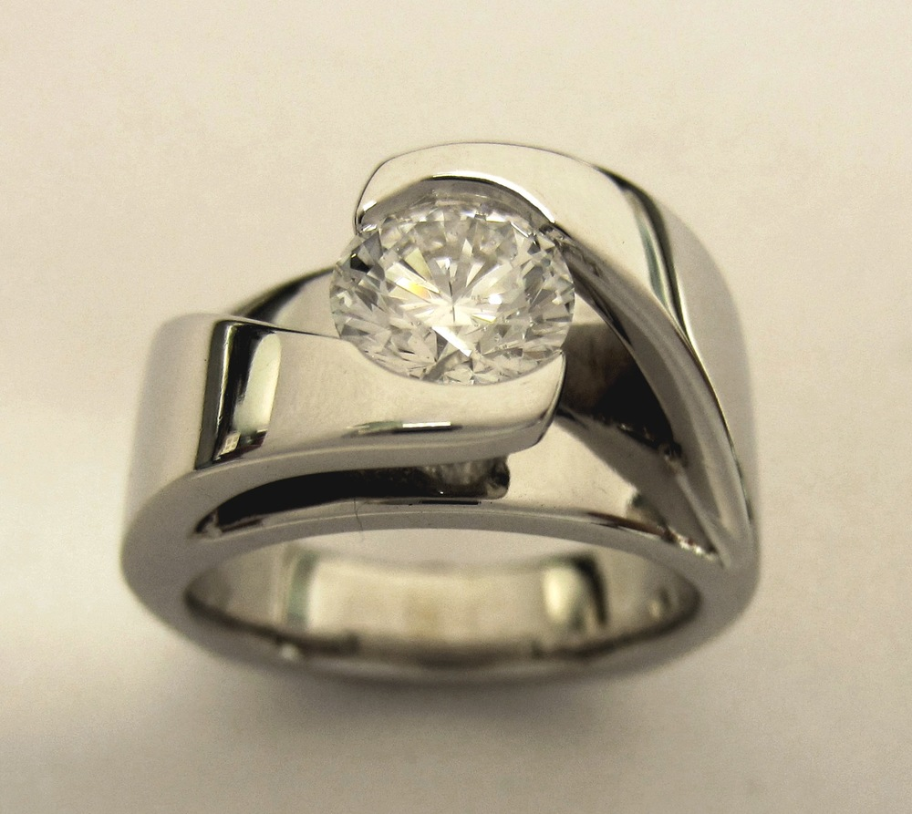 Craft-Revival Jewelers,  engagement ring, diamond engagement ring, diamond ring, modern ring, unique ring, unique engagement ring, modern ring, bezel set engagement ring, bezel set diamond