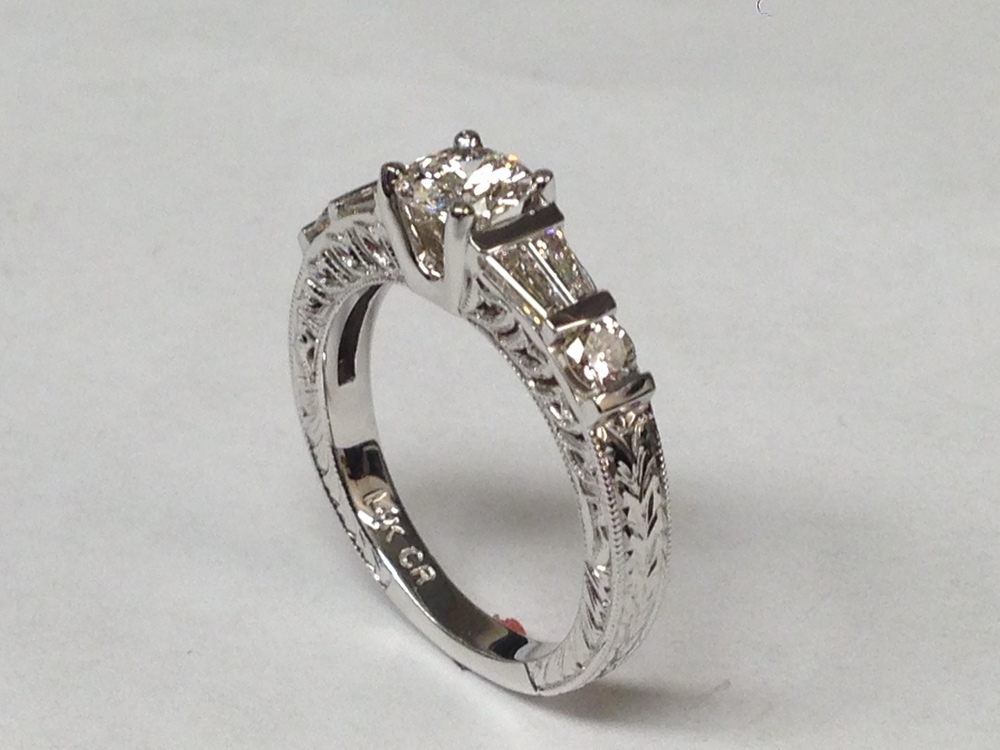 side-view-unique-delicate-diamond-engagement-ring-antique-vintage-design-craft-revival-jewelry-store-grand-rapids