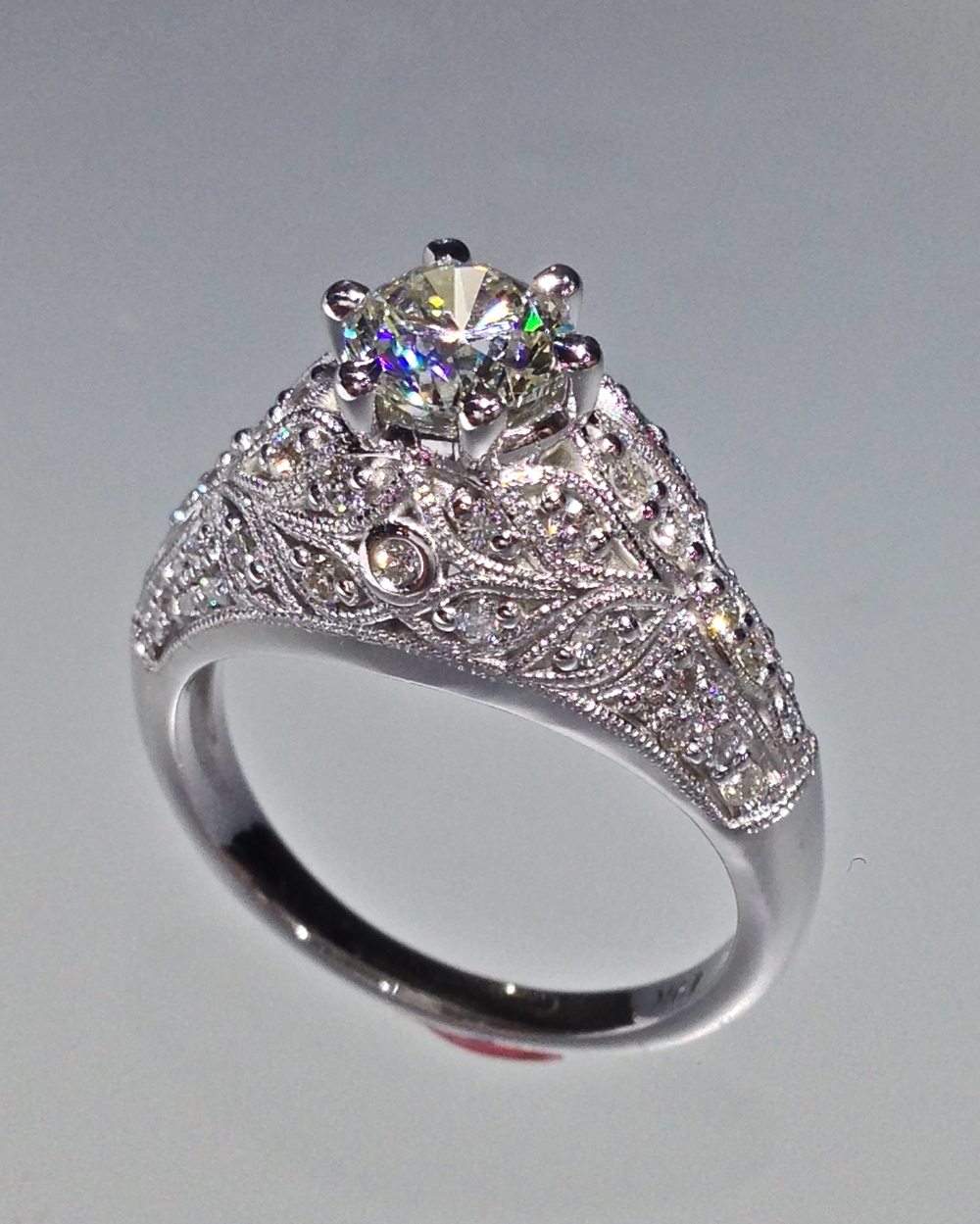 unique-vintage-filigree-scroll-round-diamond-engagement-ring-craft-revival-jewelry-store-grand-rapids