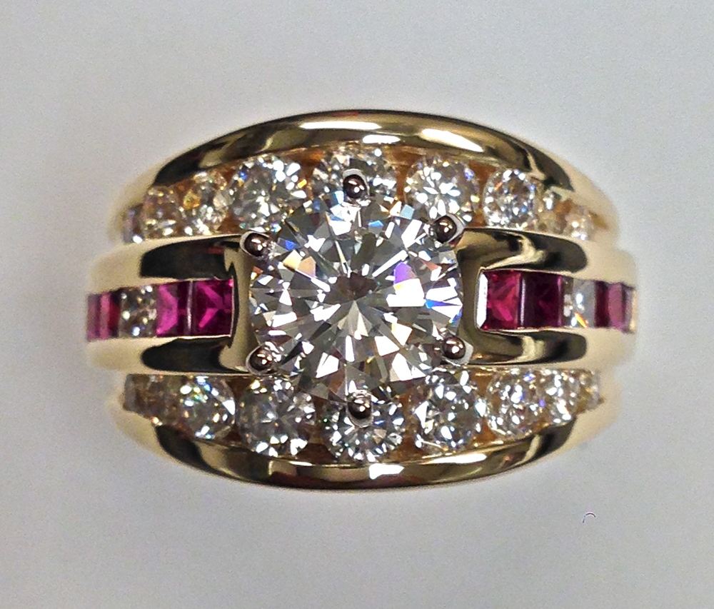 unique-round-diamond-princess-cut-ruby-yellow-gold-engagement-ring-craft-revival-jewelry-store-grand-rapids
