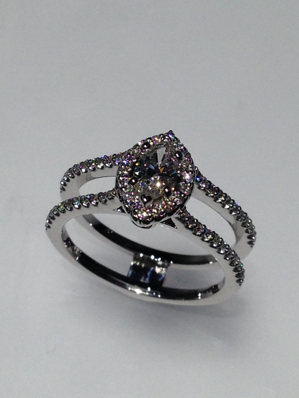 Craft-Revival Jewelers,  engagement ring, diamond engagement ring, diamond ring, modern ring, unique ring, unique engagement ring, marquise halo, marqusie diamond halo ring