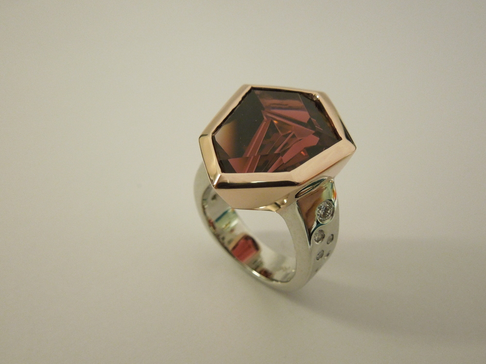 Craft-Revival Jewelers, unique ring, munstiener ring, tourmaline ring