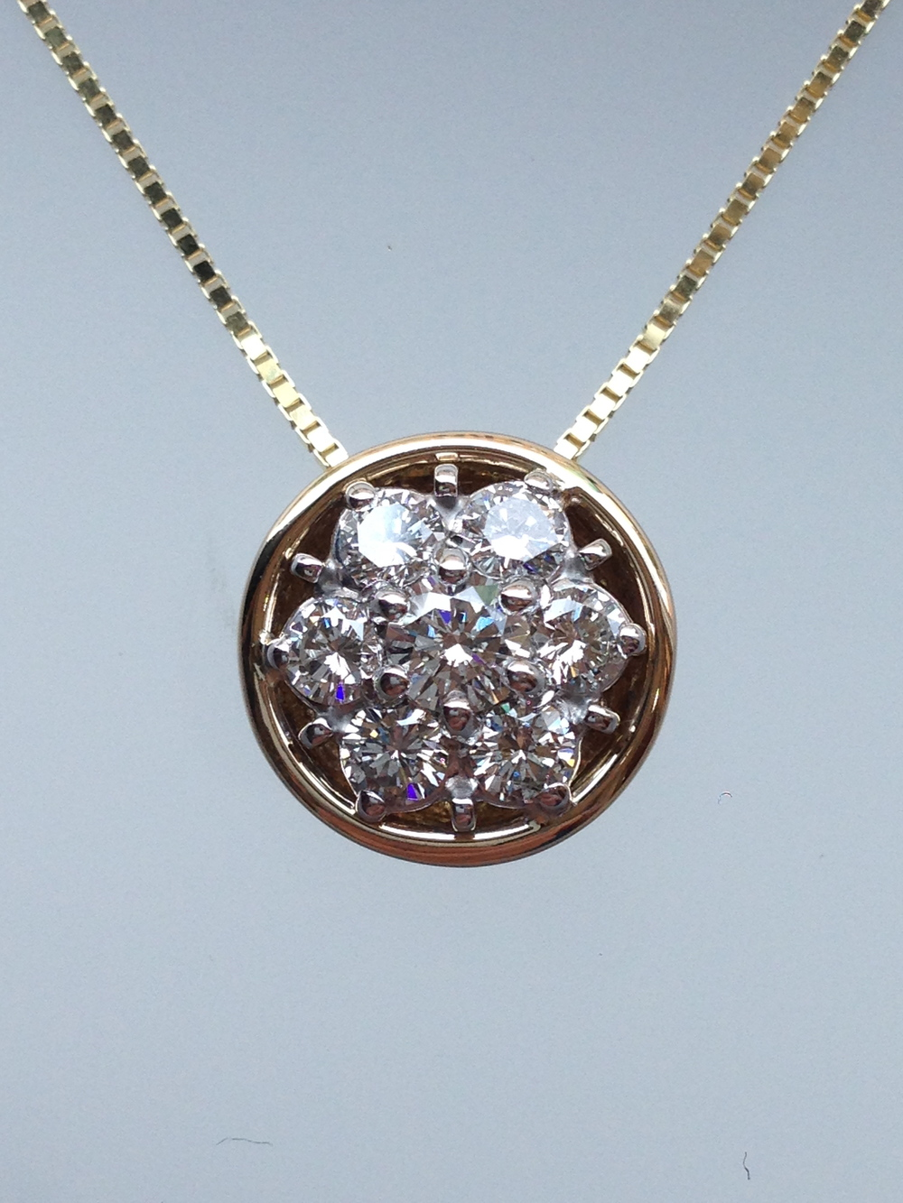 Craft-Revival Jewelers, unique pendant, unqiue necklace, diamond cluster pendant
