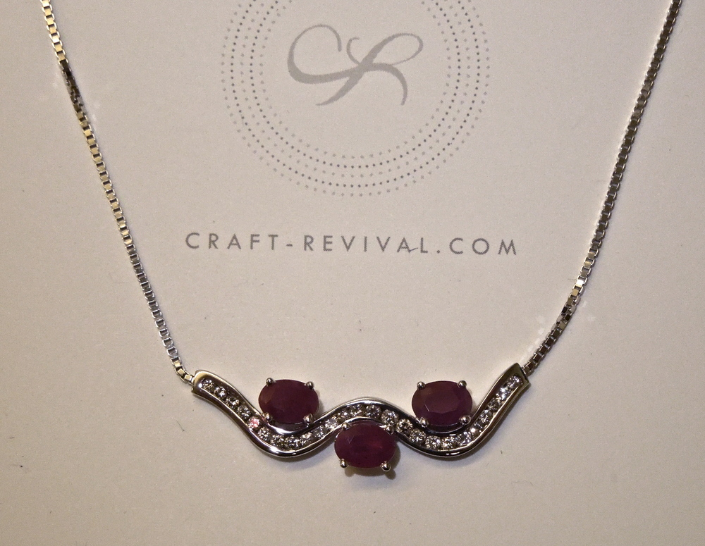 Craft-Revival Jewelers, unique pendant, unqiue necklace, ruby pendant, diamond pendant