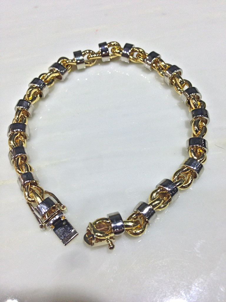 unique-custom-white-gold-yellow-gold-bracelet-craft-revival-jewelry-store-grand-rapids