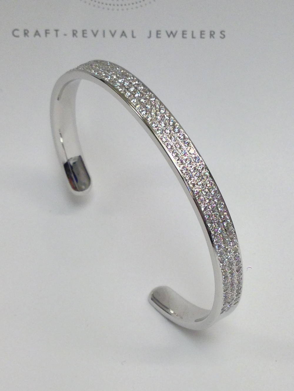 unique-white-gold-diamond-bangle-craft-revival-jewelry-store-grand-rapids-michigan