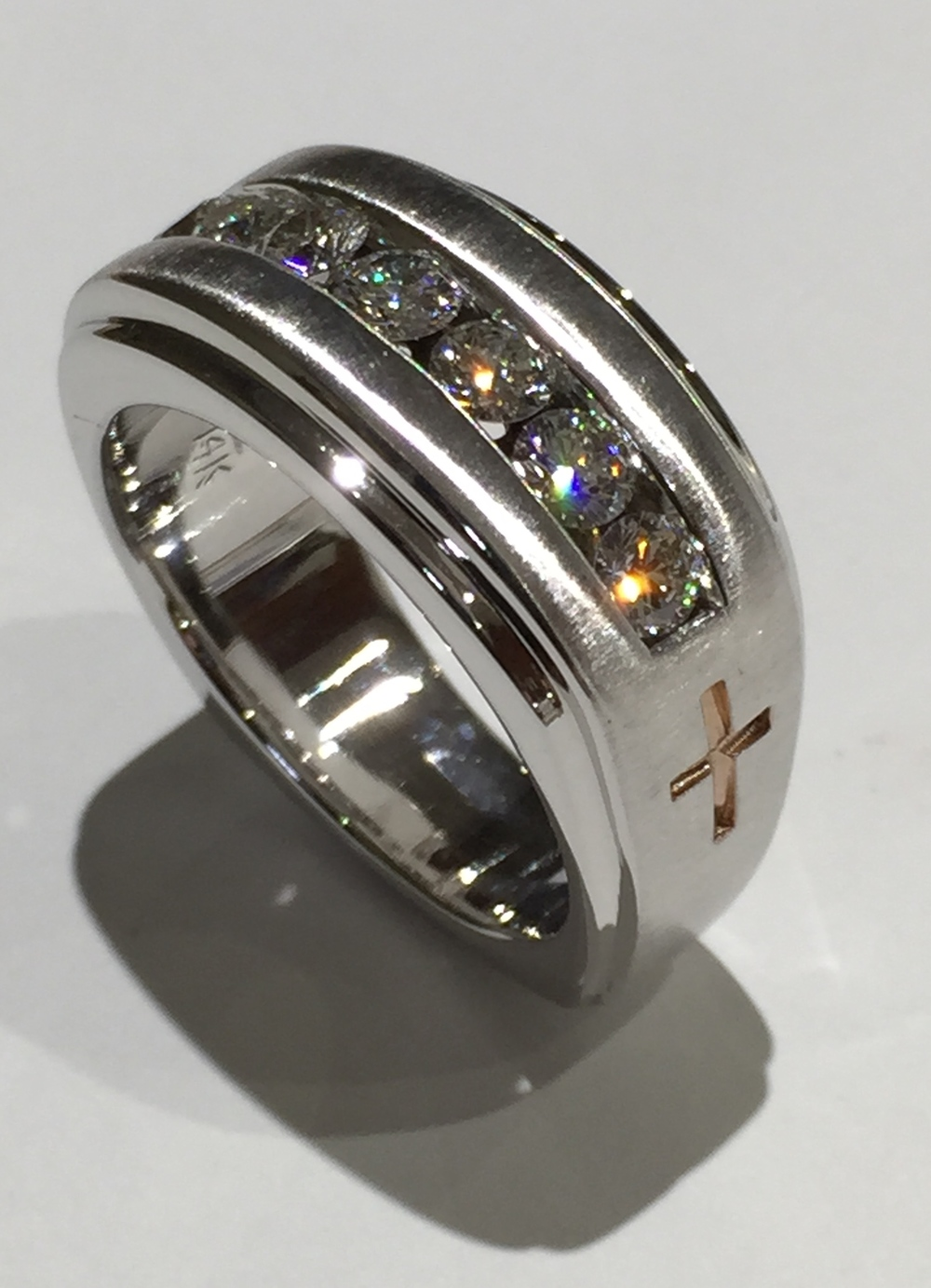 unique-modern-designed-textured-diamond-stone-gold-cross-gents-band-mens-wedding-ring-craft-revival-jewelry-store-grand-rapids