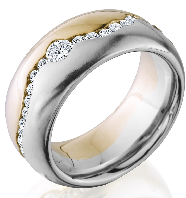 unique-mens-two-toned-gold-white-gold-gents-wedding-band-diamond-accent-craft-revival-jewelry-store-grand-rapids