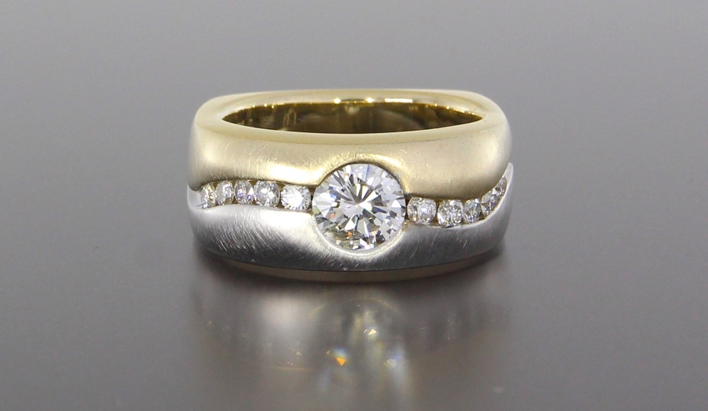 unique-mens-two-tone-yellow-gold-white-gold-round-diamond-wedding-band-craft-revival-jewelry-store-grand-rapids