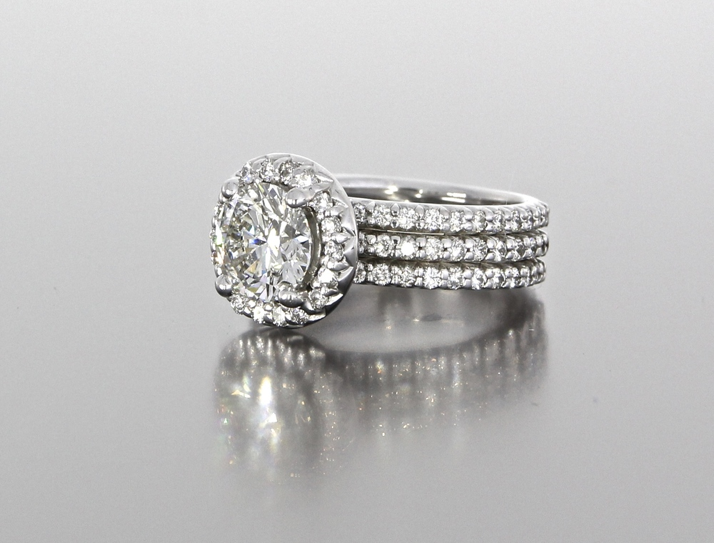 side-view-unique-round-diamond-delicate-halo-wedding-ring-engagement-ring-craft-revival-jewelry-store-grand-rapids