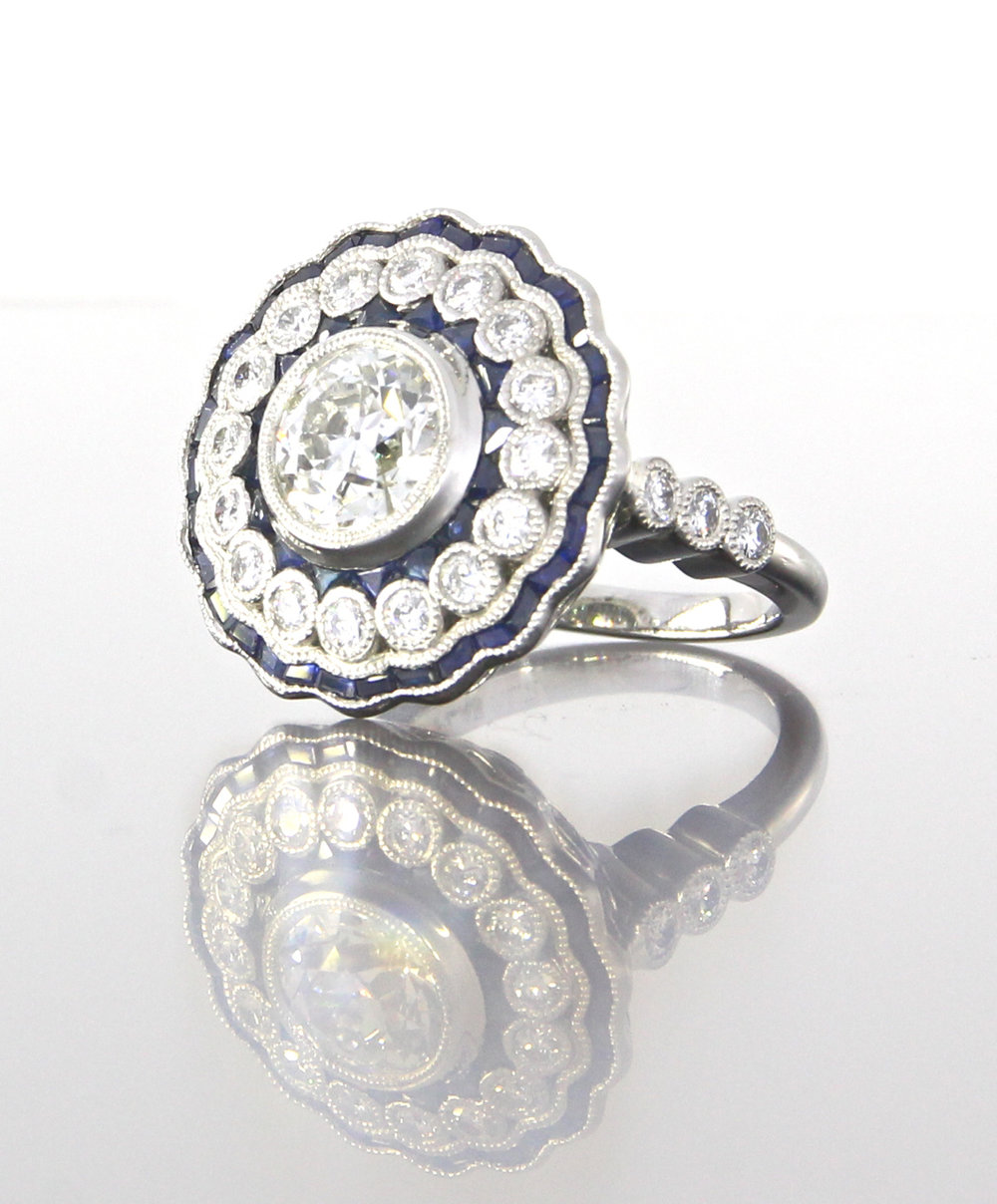 unique-ladies-round-diamond-sapphire-halo-art-deco-engagement-ring-craft-revival-jewelry-store-grand-rapids