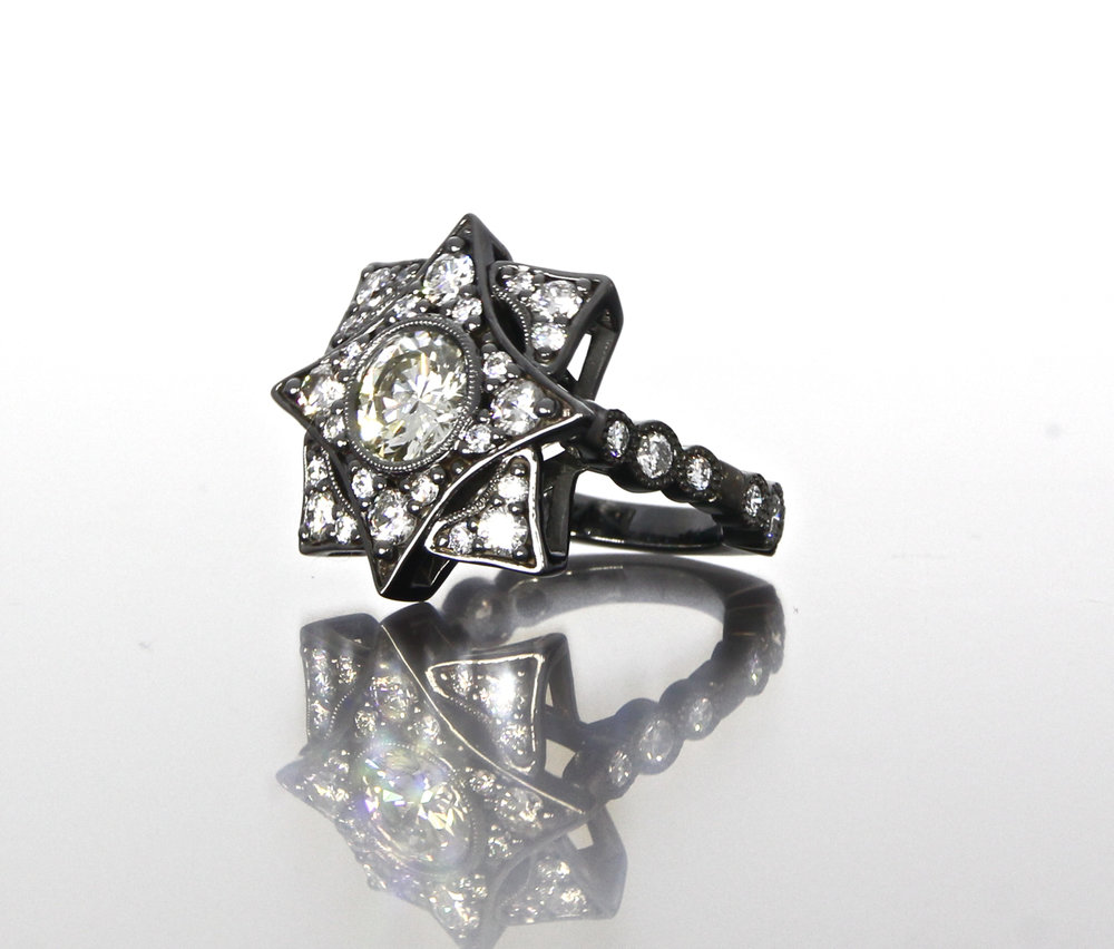 side-view-unique-round-diamond-unique-diamond-double-halo-engagement-ring-craft-revival-jewelry-store-grand-rapids