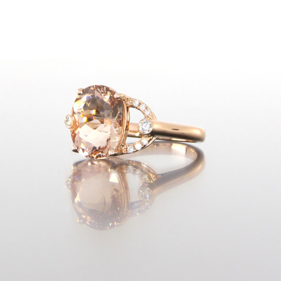 side-view-unique-oval-morganite-diamond-accent-rose-gold-alternative-engagement-ring-craft-revival-jewelry-store-grand-rapids