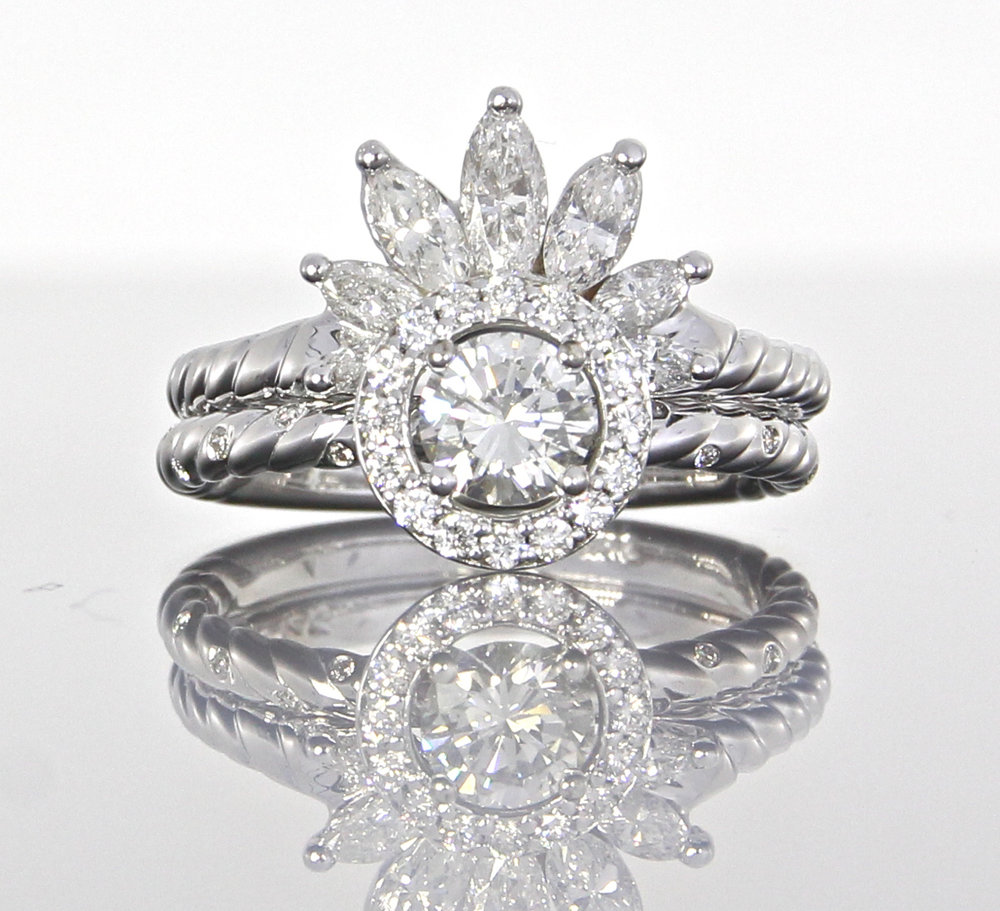 unique-round-diamond-halo-marquise-band-engagement-ring-craft-revival-jewelry-store-grand-rapids